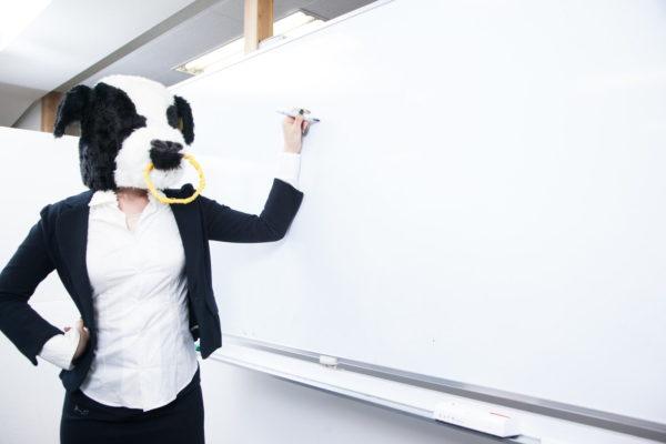 ホワイトボードで教える人