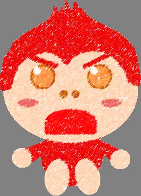 あかパンジー(怒り)